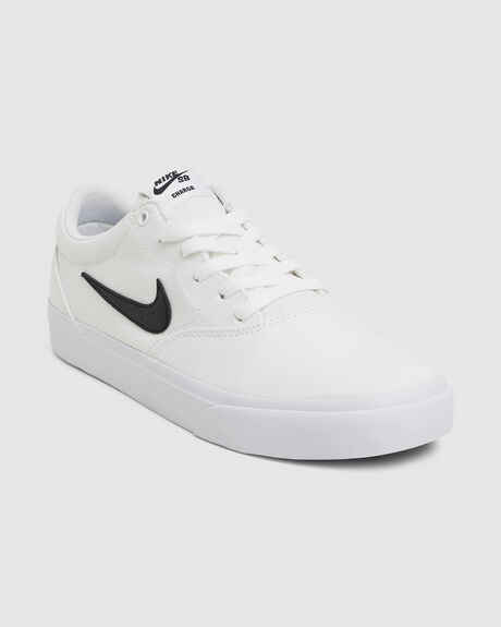 NIKE SB CHARGE CANVAS WHITE
