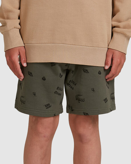BOYS PRINTED FLEECE SHORT