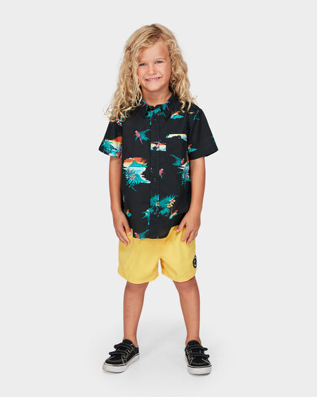 GROMS SUNDAYS FLORAL SHORT SLEEVE SHIRT