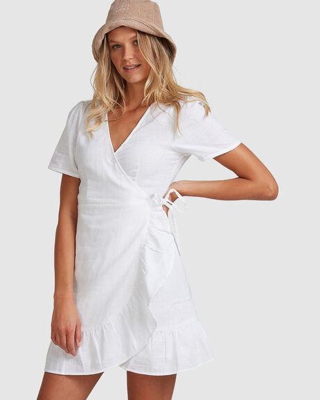CROSSHATCH WRAP DRESS