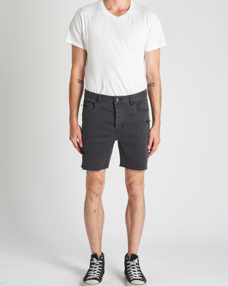 A CROPPED SLIM SHORT SMOKED