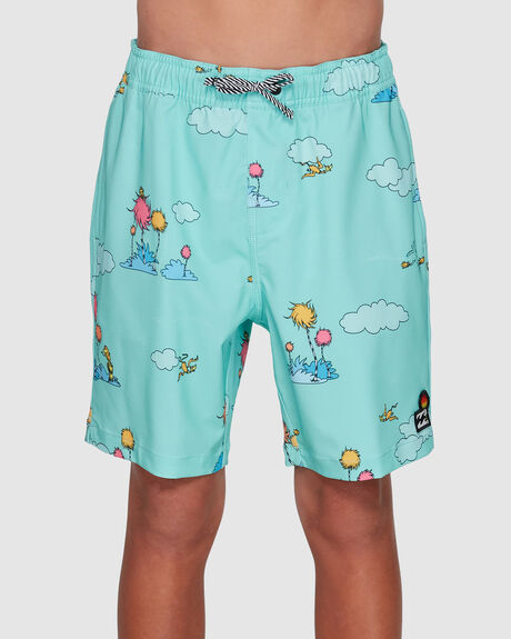 DR. SEUSS LORAX SUNDAYS LAYBACK BOARDSHORTS