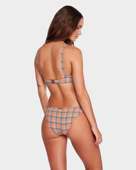 SUNSHINE CHECK TROPIC BIKINI BOTTOM