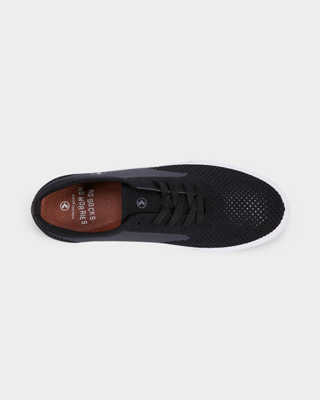 KUSTOM BURLEIGH KNIT BLACK GREY SHOE