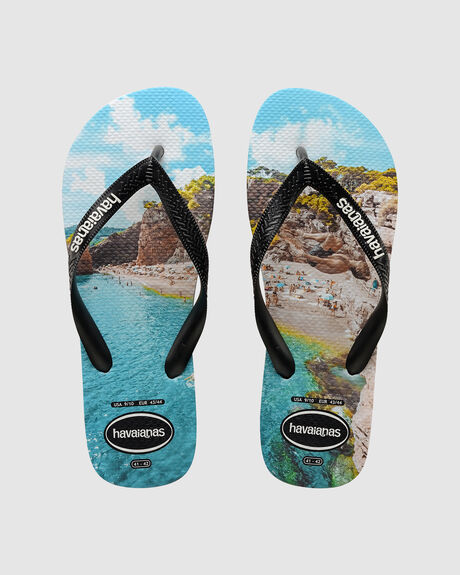 PHOTOPRINT (CLIFF JUMP) BLACK/BLACK/TURQUOISE