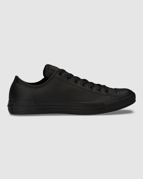 CONVERSE CHUCK TAYLOR ALL STAR LOW TOP LEATHER BLACK SHOE