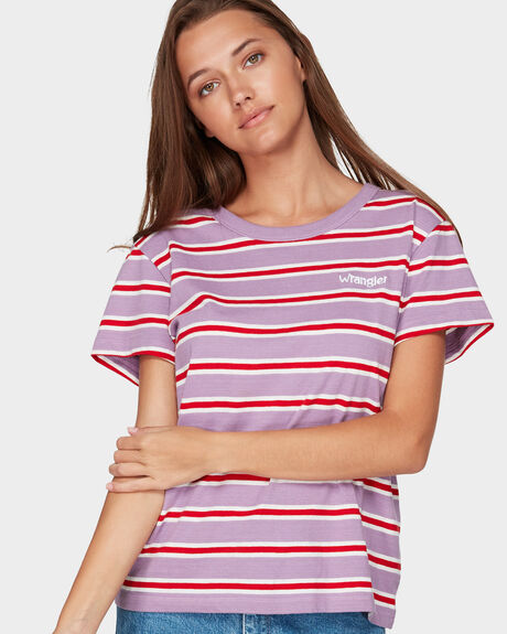 SUMMER WINE TEE LILAC STRIPE TEE