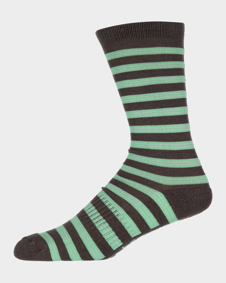 M CREW CHOC MINT STRIPE MULTI