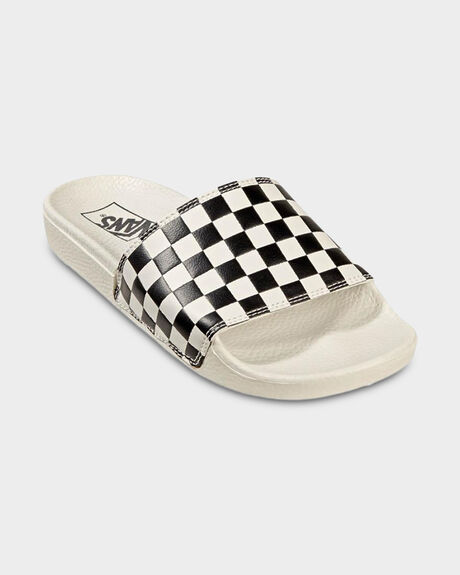 SLIDE-ON (CHECKERBOARD)WHT/BLK