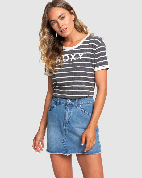 WOMENS FRIENDLY MOMENTS DENIM SKIRT