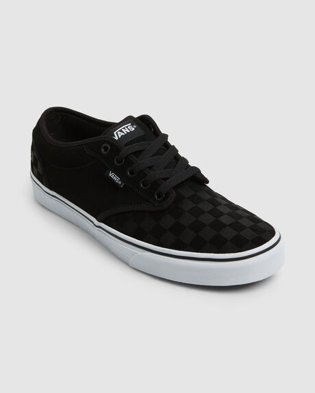 ATWOOD SUEDE EMBOSS BLK/WHT