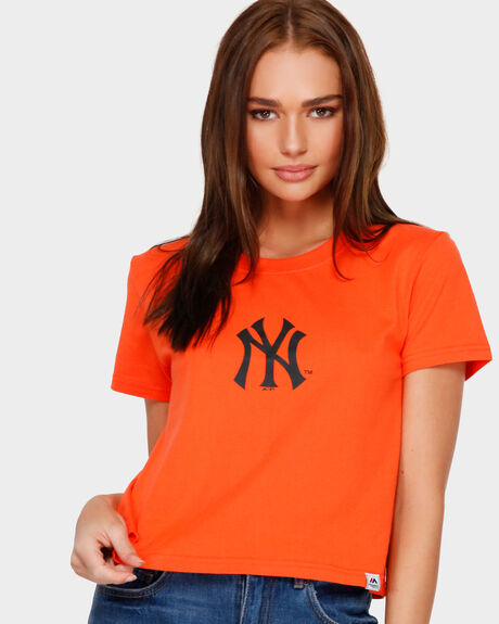 GLANCY CROP TEE NY YANKEES ORANGE