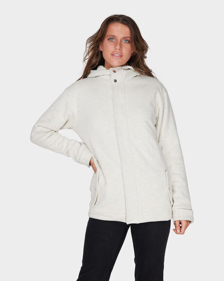 KHARLO HOODED FLEECE JACKET