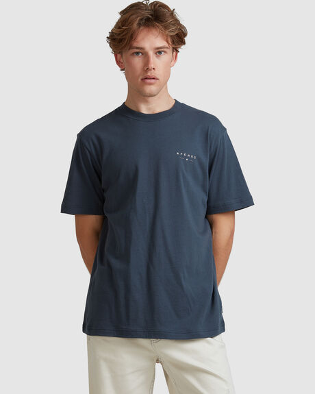 NOT THERE-RETRO FIT TEE-SLATE