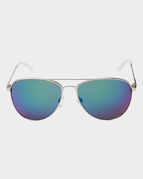 FARVA BRUSHED SILVER SUNGLASSES