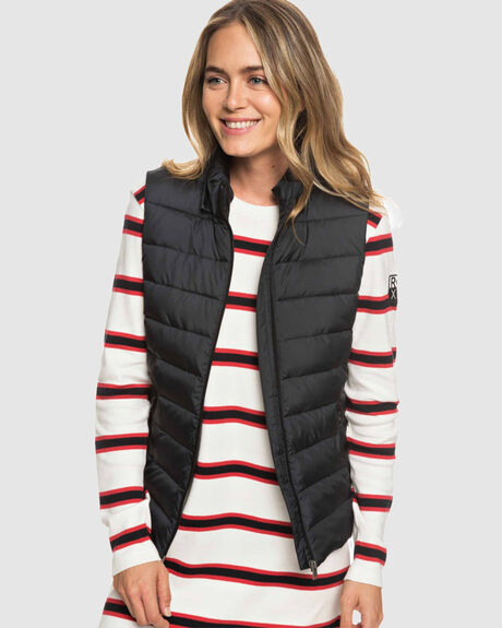 HERE COMES THE RAIN QUILTED PUFFER VEST