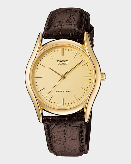 CLASSIC - BROWN LEATHER/ GOLD - MTP1094Q-9A