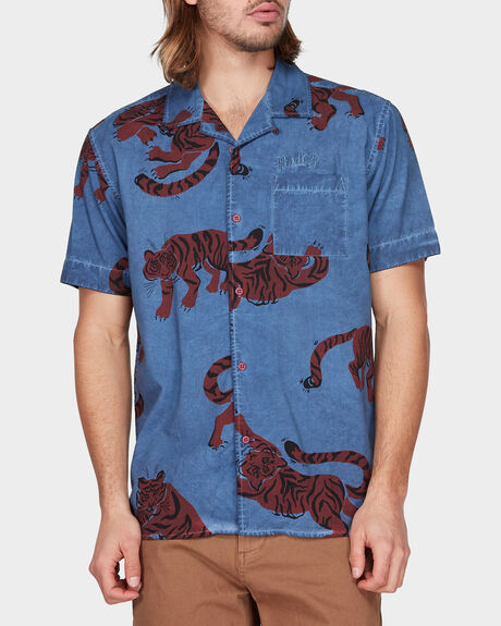 TIGER WOVEN TOP  SHORT SLEEVE SHIRT
