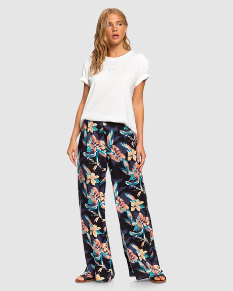 BESIDE ME WIDE LEG VISCOSE PANTS