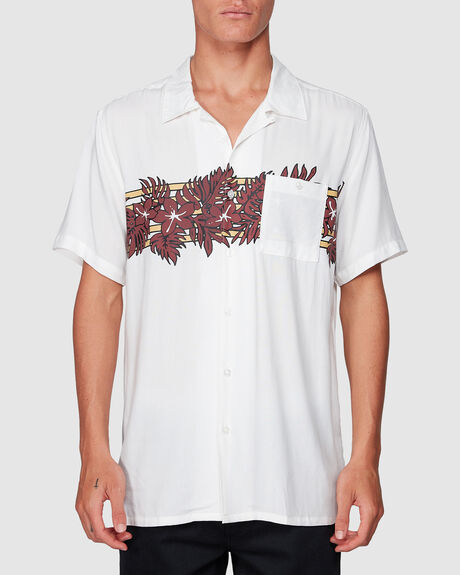 STUBBIES FLORAL SHORT SLEEVE SHIRT