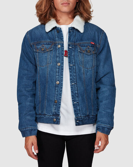 SOUTHBOUND TRUCKER WORN INDIGO JACKET