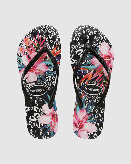 SLIM ANIMAL FLORAL BLACK