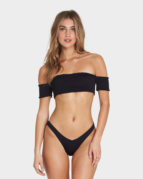 SOL SEARCHER COLD SHOULDER BIKINI TOP