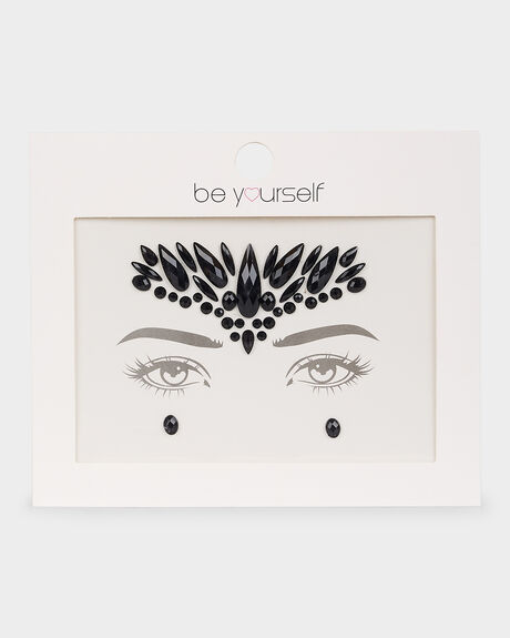 BE YOURSELF FACE GEM  BLACK