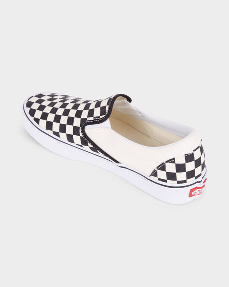 VANS CLASSIC SLIP ON BLACK WHITE CHECK SHOE