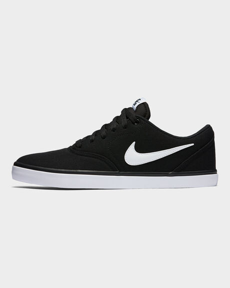 7b20a63791142 Black/white MEN'S NIKE SB CHECK SOLARSOFT CANVAS SHOE | Amazon Surf