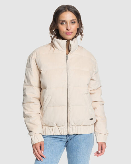 WOMENS ADVENTURE COAST COLLARED PUFFER JACKET