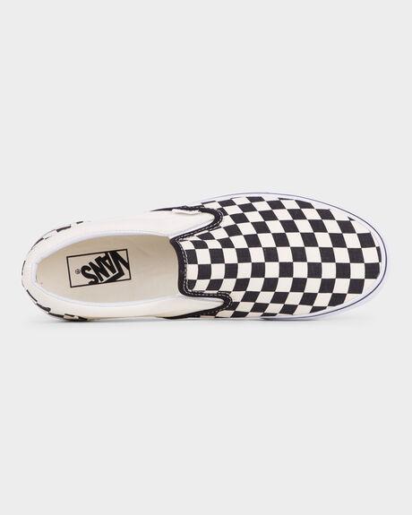 VANS CLASSIC SLIP ON BLACK WHITE CHECK SHOE