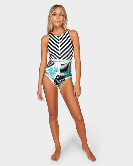 c8541ecfaefd68 Tblack Crazy POP SURF ONE-PIECE SWIMSUIT