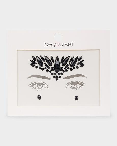 BE YOURSELF FACE GEM  BLACK
