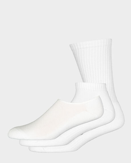 MENS 3PK SOCK - WHITE