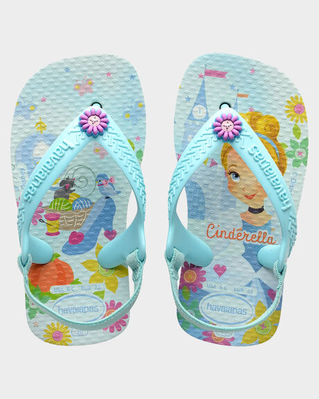 BABY NEW DISNEY PRINCESS WHITE ICE BLUE THONGS