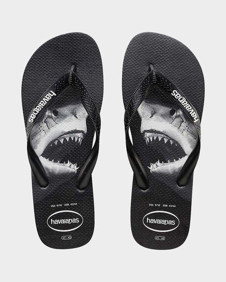 KIDS PHOTOPRINT (SHARK) BLACK/GREY THONG