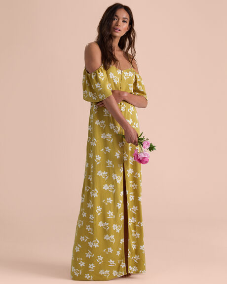 SHOULDER SWAY MAXI DRESS