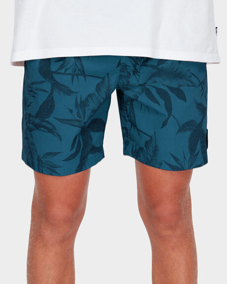 ALL DAY PRINTED ELASTIC WALKSHORT