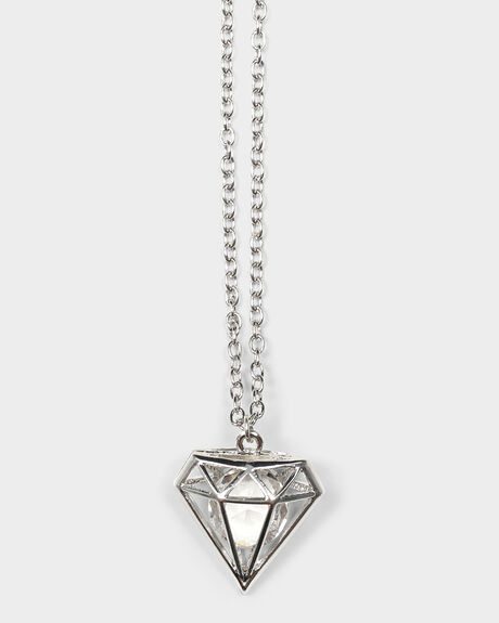 DIAMOND NECKLACE - SILVER