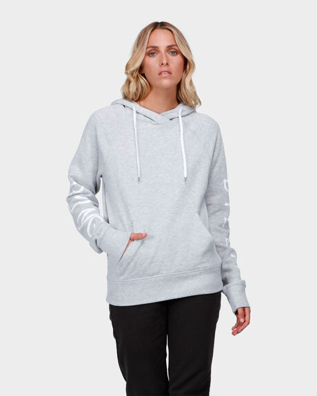 DOWN THE LINE HOODED PULLOVER JUMPER