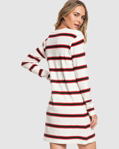 LONELY TOGETHER LONG SLEEVED STRIPED T SHIRT DRESS