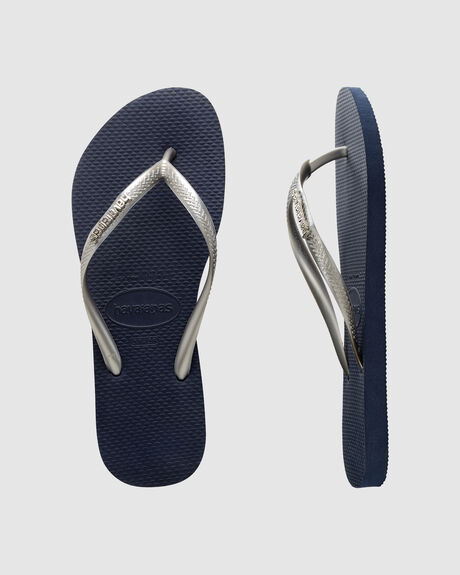 SLIM LOGO METALLIC NAVY/BLUE SILVER