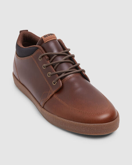 c6d6df0fc4 GB GSCHUKKA BROWN LEATHER CREPE