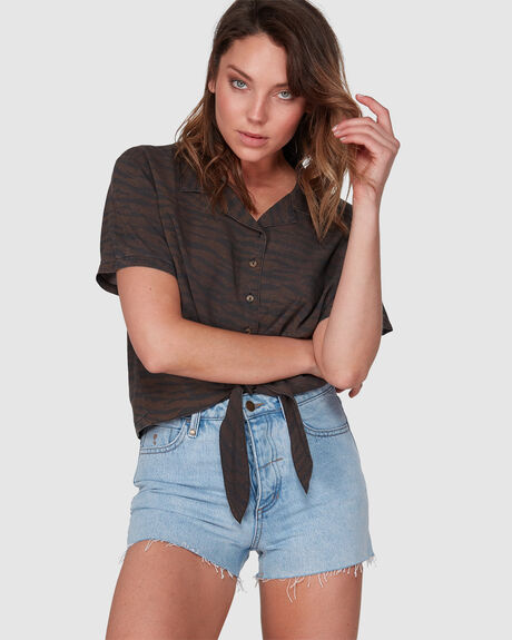 WOMENS ERIN SHORT WASTED BLUE