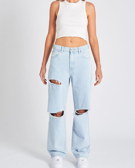 A SLOUCH JEAN BLEACHED STONE R