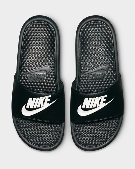 NIKE BENASSI JUST DO IT SLIDE  BLACK/WHITE