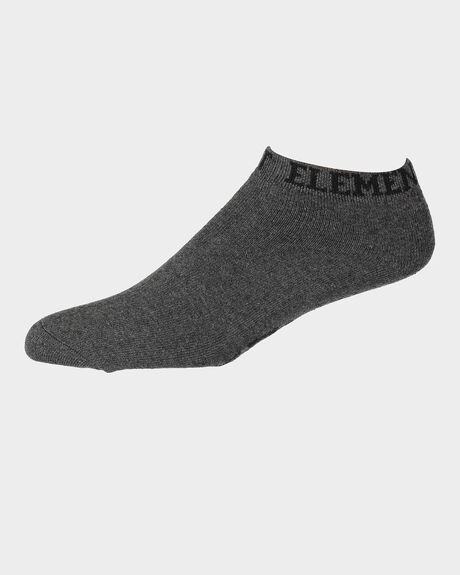ELEMENT ANKLE SOCK CHAR MARLE