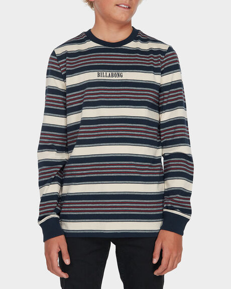 YOUTH MIXUP STRIPE LONG SLEEVE TEE