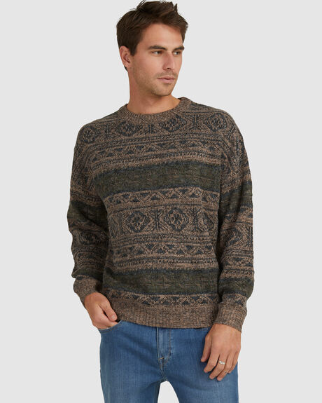 OPEN ROAD SWEATER BROWN MARLE